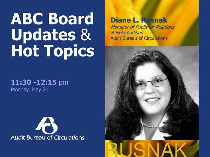 ABC Board Updates