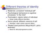 different theories of identity