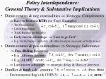 policy interdependence general theory substantive implications
