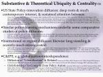 substantive theoretical ubiquity centrality 1