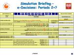 simulation briefing e decisions periods 2