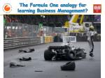 the formula one analogy for learning business management1