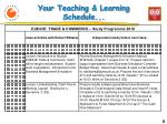 your teaching learning schedule