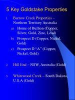 5 key goldstake properties