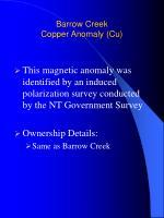 barrow creek copper anomaly cu