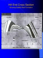 hill end cross section showing saddle reef formation