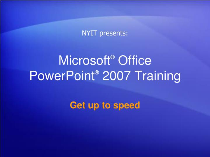 microsoft office powerpoint 2007 training n.