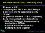 electronic visualization laboratory evl
