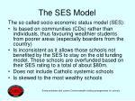 the ses model