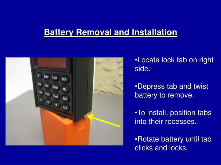 Battery Removal and Installation