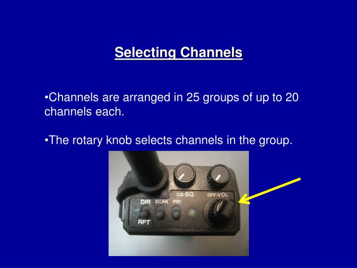 Selecting Channels