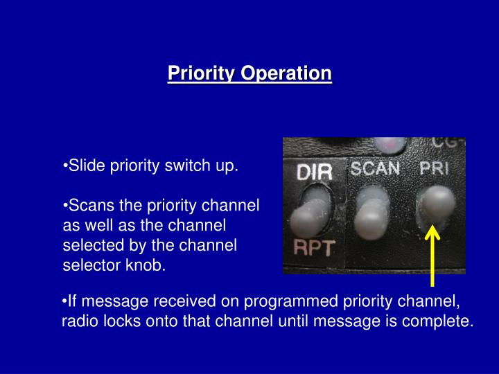 Priority Operation