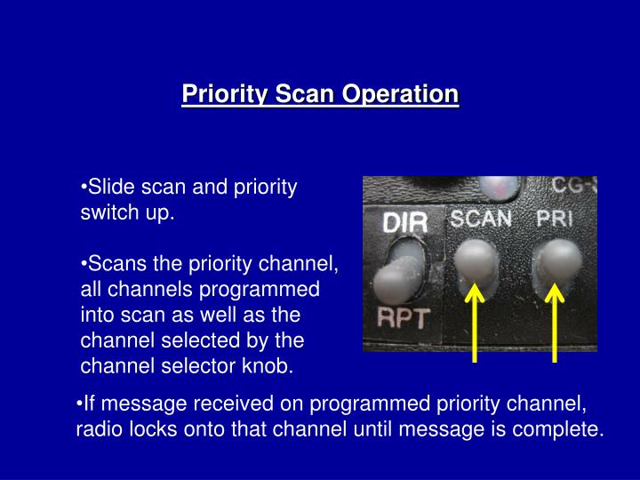 Priority Scan Operation