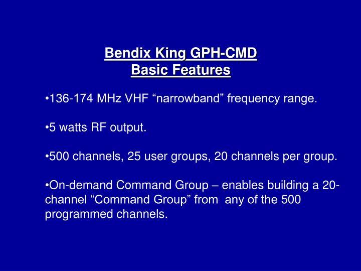 Bendix King GPH-CMD