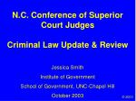n c conference of superior court judges criminal law update review
