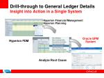 drill through to general ledger details insight into action in a single system