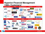 hyperion financial management 1300 customers