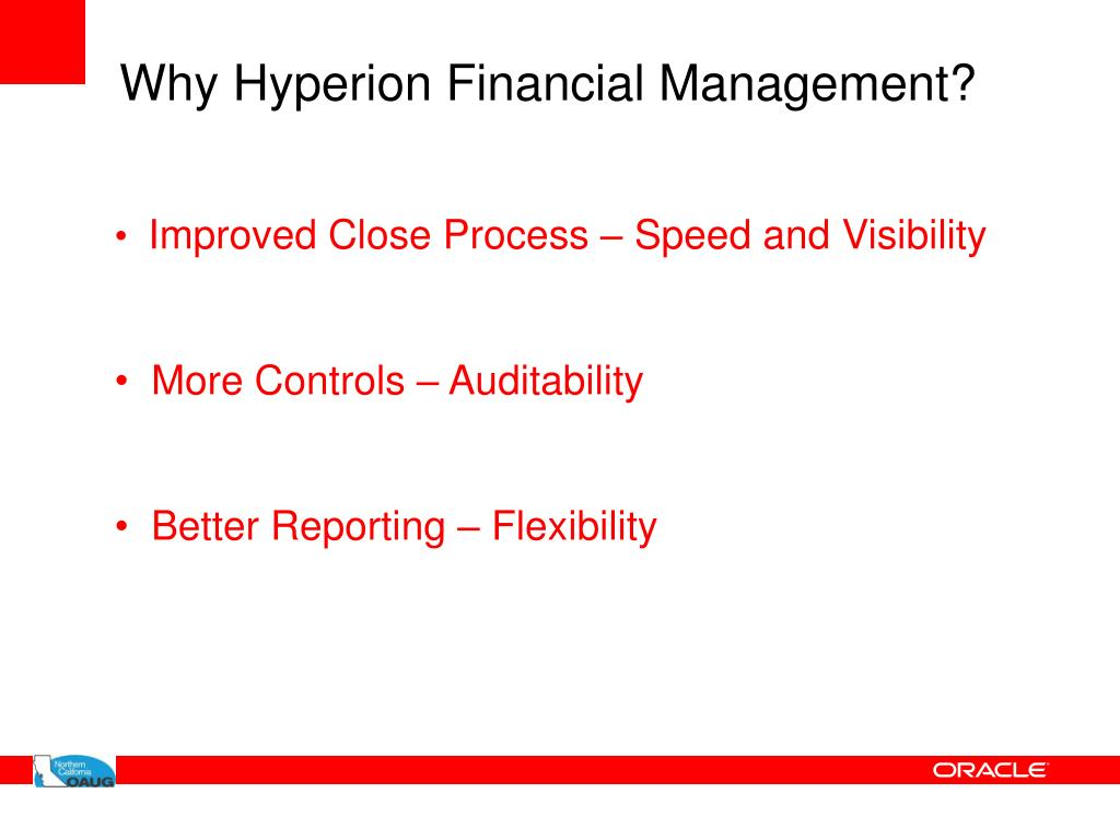 Why Hyperion Financial Management?