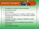 greener transport