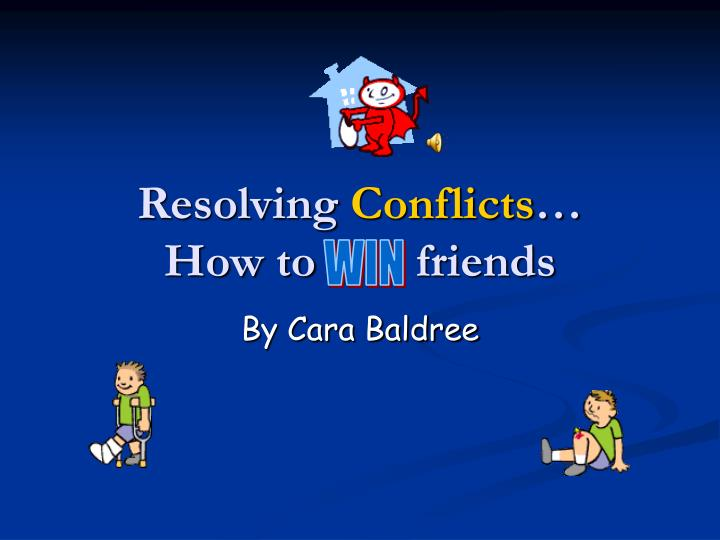 resolving conflicts how to friends n.
