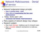 network maliciousness denial of service