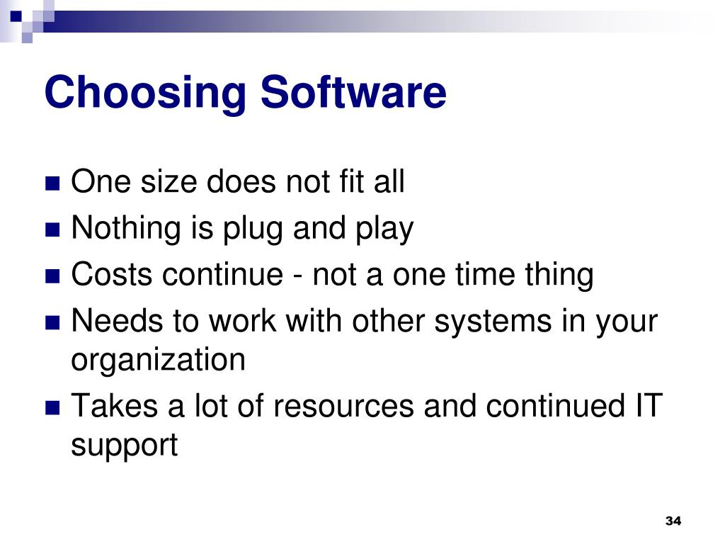 Choosing Software