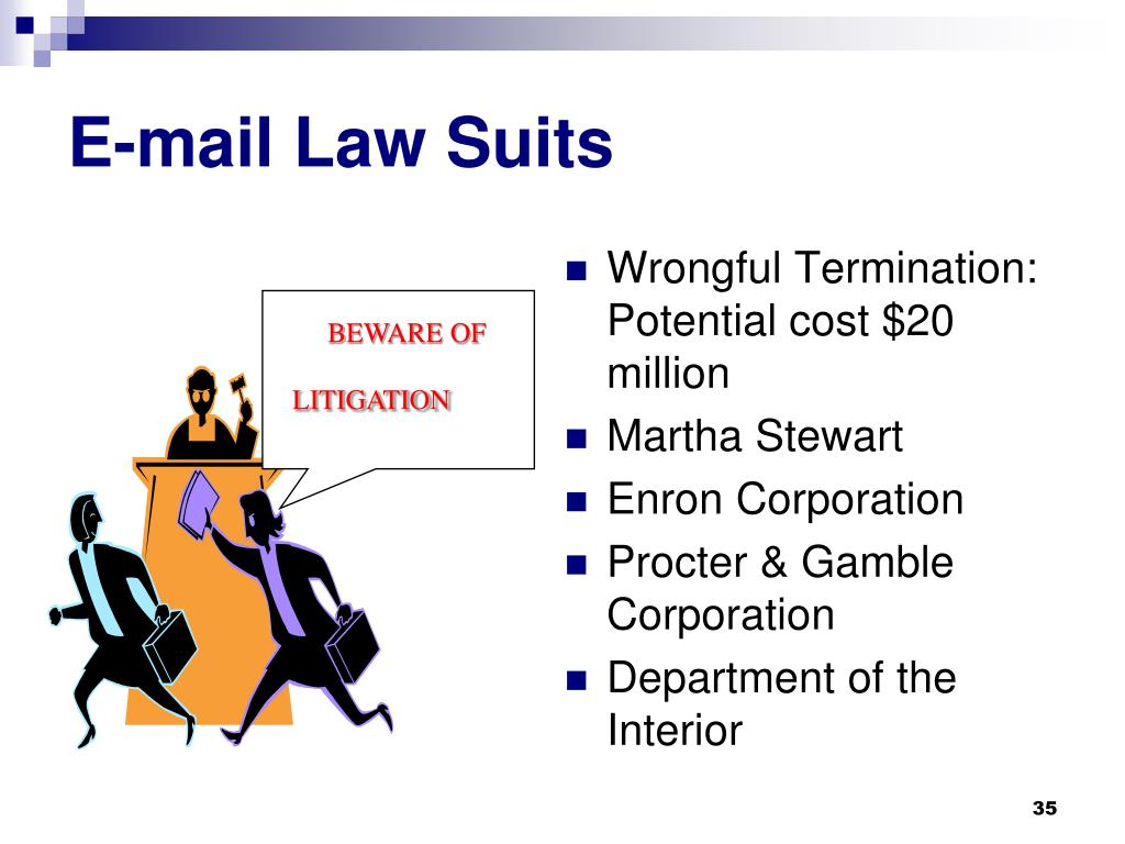 E-mail Law Suits