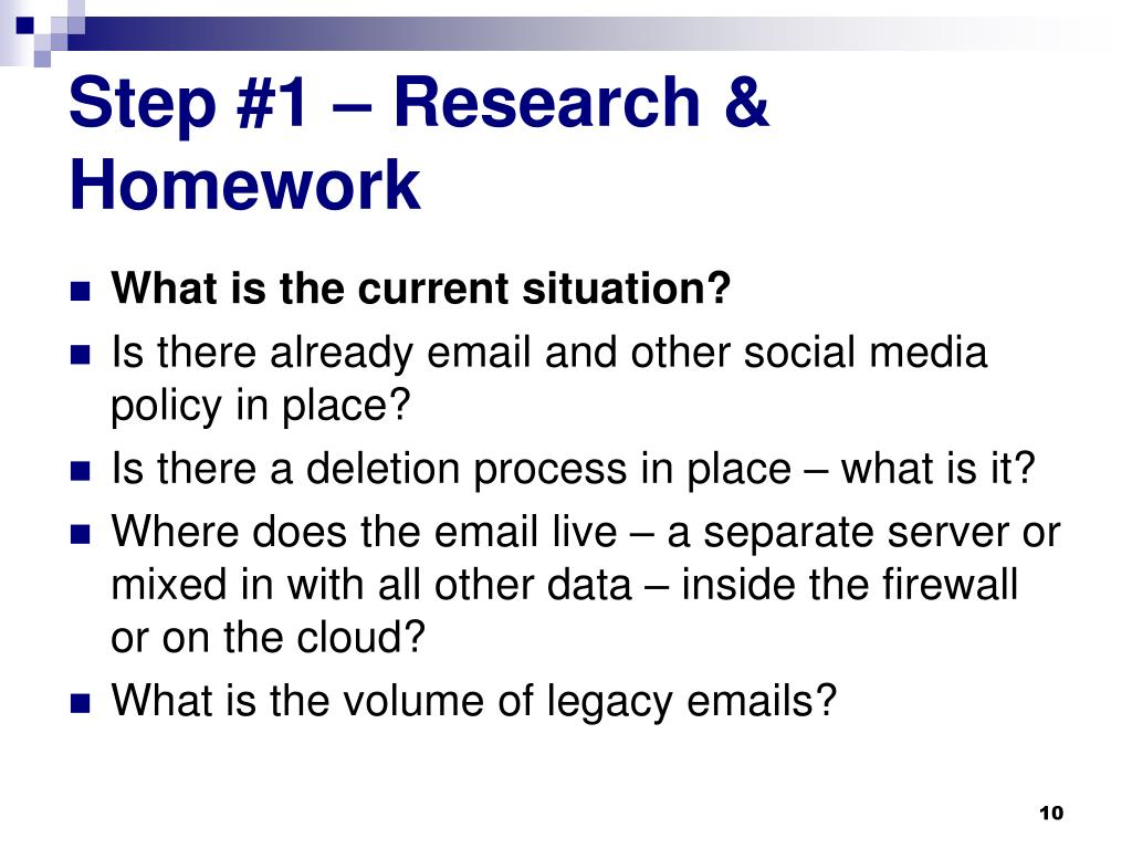Step #1 – Research & Homework