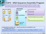 cap3 dna sequence assembly program