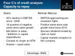 four c s of credit analysis capacity to repay
