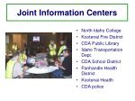 joint information centers