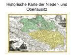 historische karte der nieder und oberlausitz