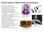 a short history of optical telecommunications