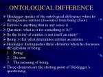 ontological difference