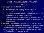 outstanding ending and totality
