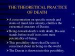 the theoretical practice of death