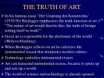 the truth of art