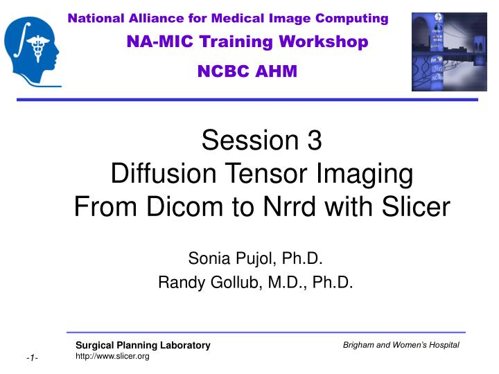 session 3 diffusion tensor imaging from dicom to nrrd with slicer n.