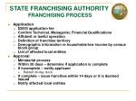 state franchising authority franchising process
