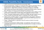 cesul feasibility study conclusions