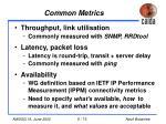 common metrics