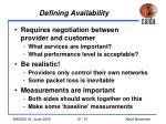 defining availability