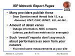 isp network report pages