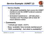 service example uunet 2