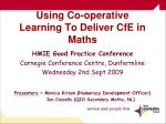 using co operative learning to deliver cfe in maths