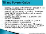 tb and poverty guide