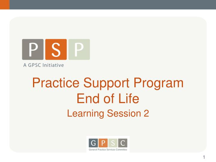 practice support program end of life n.