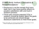 coins study authors conclusions recommendations