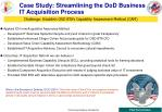 case study streamlining the dod business it acquisition process
