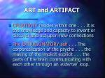 art and artifact